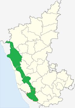 Malenadu in Karnataka Map
